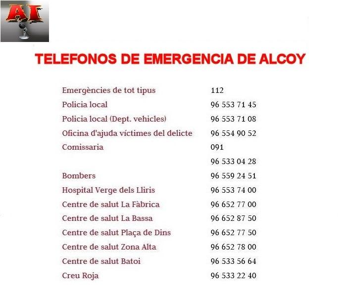 telefonos emergencia