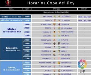Horarios Vuelta Copa del Rey